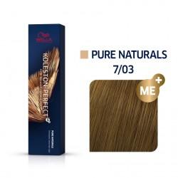 Wella Koleston Perfect Me Pure Naturals 7/03 Ξανθό Φυσικό Χρυσό 60ml