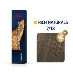 Wella Koleston Perfect Me Rich Naturals 7/18 Ξανθό Σαντρέ Περλέ 60ml