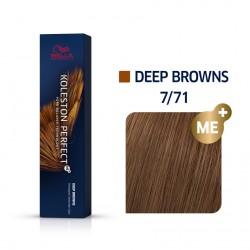 Wella Koleston Perfect Me Deep Browns 7/71 Ξανθό Καφέ Σαντρέ 60ml