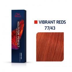 Wella Koleston Perfect Me Vibrant Reds 77/43 Έντονο Ξανθό Κόκκινο Χρυσό 60ml