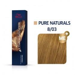 Wella Koleston Perfect Me Pure Naturals 8/03 Ξανθό Ανοιχτό Φυσικό Χρυσό 60ml