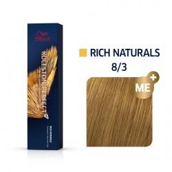 Wella Koleston Perfect Me Rich Naturals 8/3 Ξανθό Ανοιχτό Χρυσό 60ml