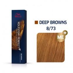 Wella Koleston Perfect Me Deep Browns 8/73 Ξανθό Ανοιχτό Καφέ Χρυσό 60ml