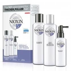 Nioxin KIT Σύστημα 5 (Σαμπουάν 150ml, Conditioner 150ml, Θεραπεία 50ml)